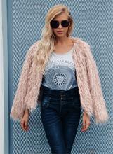 LOOZYKIT 2019 Winter Women Cardigan Furry Fur Coat Solid Fluffy Warm Long Sleeve Outerwear Women Hairy Collarless Overcoat