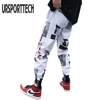 URSPORTTECH New Brand Streetwear Hip hop Joggers Pants Men Women Loose Harem Ankle Length Trousers Sport Casual Sweatpants
