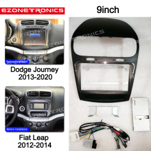 Adaptor Dvd-Frame 1-2din Dodge Fiat Radio-Player Dash-Trim-Kits Audio-Fitting Facia-Panel-9inch