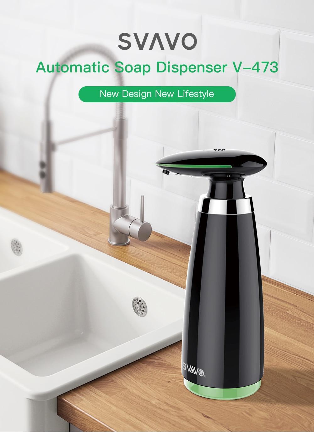 H6c3985c7ddd94929b71569ff78bb5811i SVAVO 350ml Automatic Soap Dispenser Infrared Touchless Motion Bathroom Dispenser Smart Sensor Liquid Soap Dispenser for Kitchen