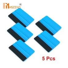 10x7.3cm Carbon Fiber Vinyl Wrap Film Felt Fabric Plastic Squeegee Scraper Car Window Tint Sticker Install Tools