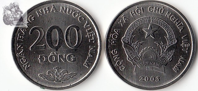Vietnam 200 Dong 2003 Edition Coins Asia New Original Coin Unc Collectible Edition Real Rare Commemorative Random Year