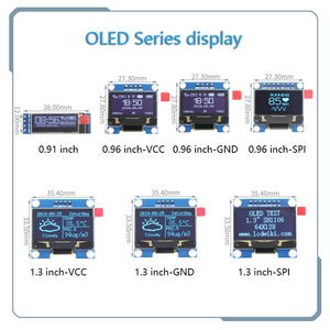 blue word OLED series 0.91 inch/0.96 inch/1.3 inch OLED display module IIC I2C SPI 128X64 I2C SSD1306 12864 LCD for arduino