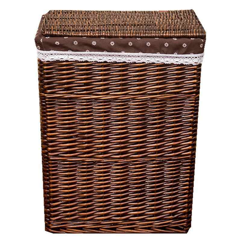 Dirty Clothes Storage Basket Rattan