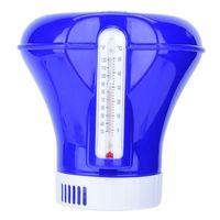 8 zoll Pool Floater Einfach Lesen Tablet Dispenser Chlor Feeder Mit Thermometer