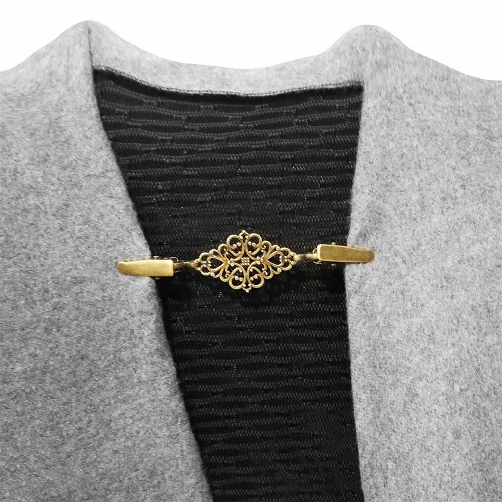 Wanita Cardigan Sweater Blus Selendang Bros Kemeja Kerah Retro Bebek Klip Gesper Pesona Aksesoris Hadiah Ukiran Bunga Perhiasan Pin