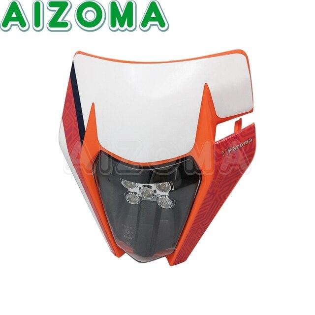 Phare moto Enduro universel m-masque LED phare avant pour 2010 20 KTM 125 150 250 450 SX XC EXC 530 XC-W Husqvarna 2014-20