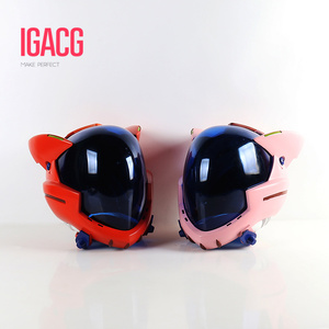 Image 1 - ¡En Stock! Casco acrílico EVA para Cosplay, casco Ayanami Rei Mari Makinami, máscara ilustre