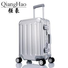 Чистый Алюминий сплав тяга чемодан 20/25/29 дюймов из металла багажа модный тип чемодан багажа чемодана с выдвижной ручкой