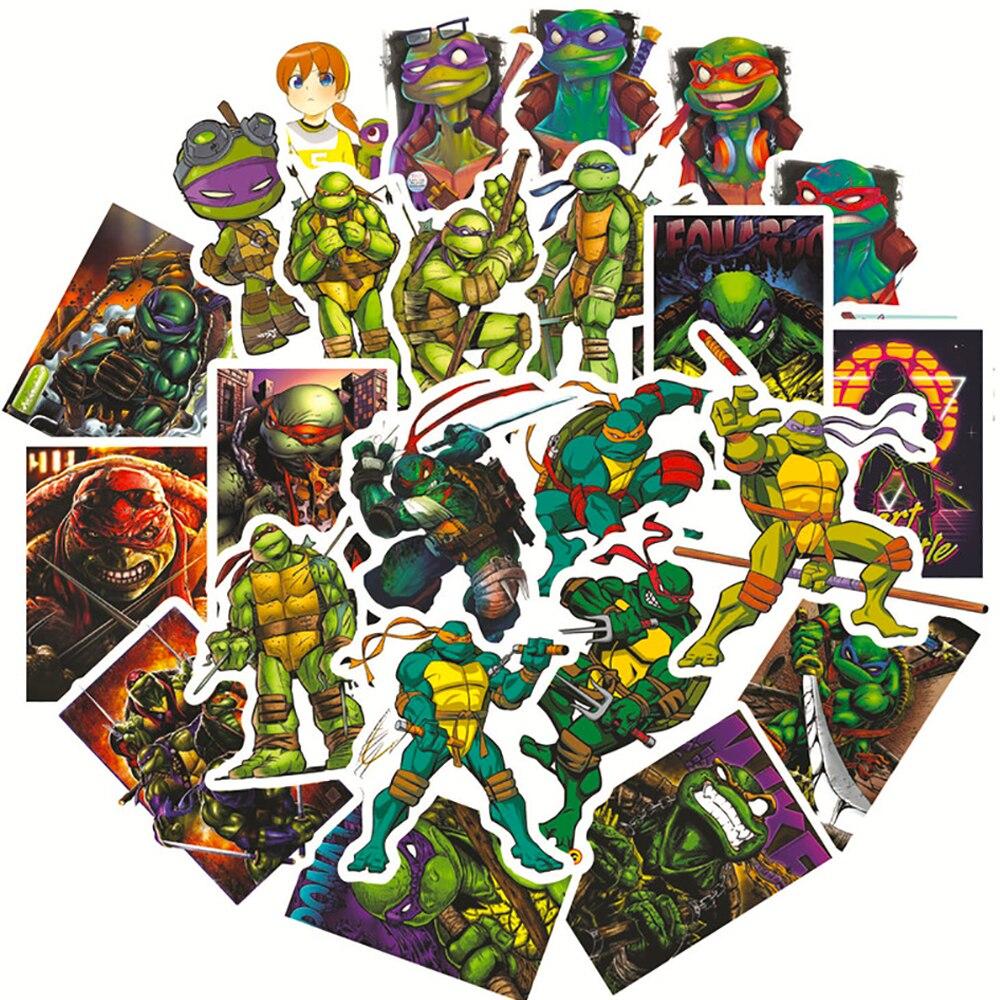 10/30/50PCS Leonardo Raphael Michelangelo Donatello Turtles Cartoon Stickers DIY Travel Luggage Guitar Skateboard Cool Stickers