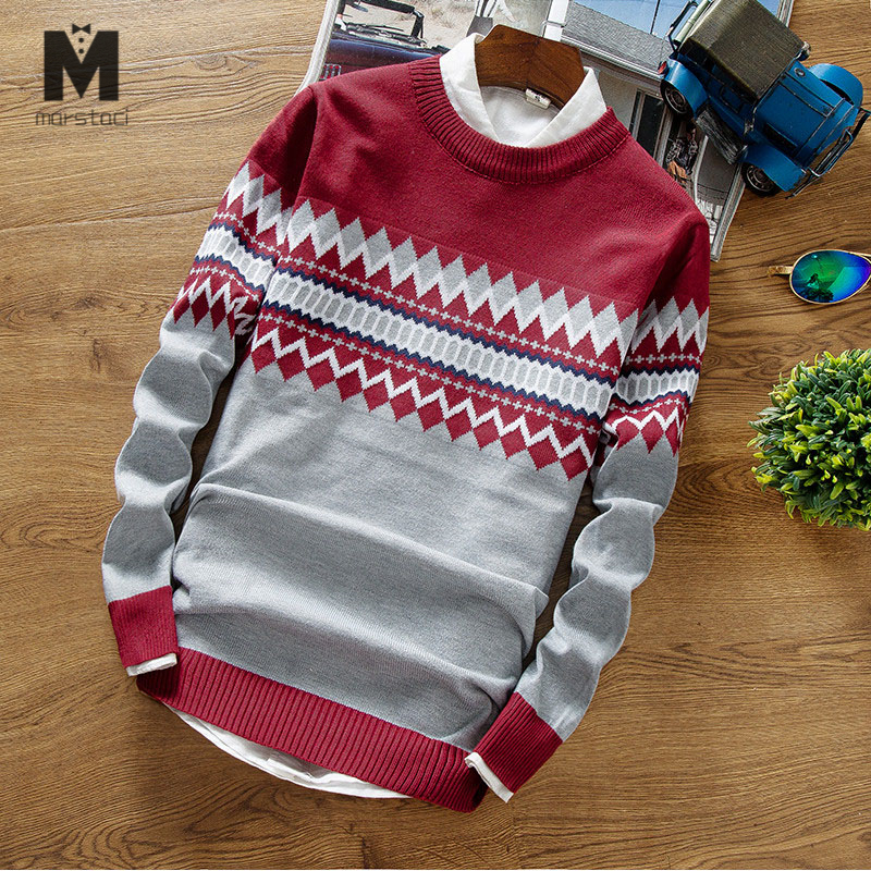 Pullovers Men Slim-Fit O-Neck Knitting Autumn Fashion-Brand New XXL Casual