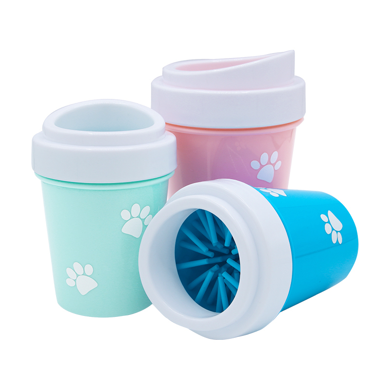 Pet Dog Foot Cleaning Cup Paw Brush Clean Tool Soft Silicone Combs Portable Pet Foot Washer Cup Paw Cleaning Cups in Dog Combs from Home Garden