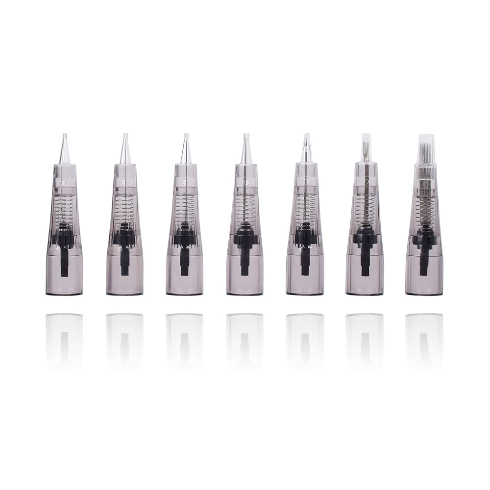 10Pcs Makeup Microblading Needles Eyebrow Lip Tattoo Needle Cartridges Semi Body Permanent Makeup Accessory 1P/5P/5F/7F/15F
