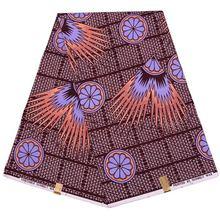 Анкара восковая новая Готическая печатная восковая ткань для леди швейная 6 ярдов