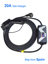 EVSE Xe Điện Xe Hơi J1772 Loại 1 NEMA 20A Nhanh chargring Châu Âu Adapter Cắm
