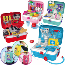 Kitchen-Box-Tool Food-Dinosaur-Box Tableware Dresser Pretend-Play-Toys Kids Children