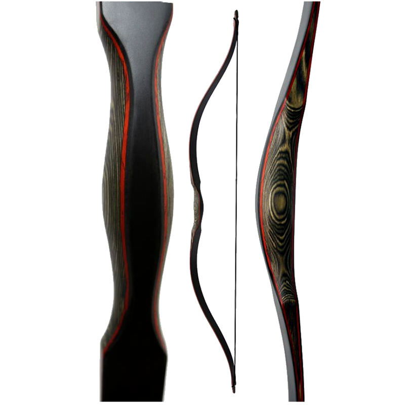 Toparchery 48inch Traditional Shooting Training Bow 30 Lbs 35lbs One-piece Recurve Laminated Wooden Bow