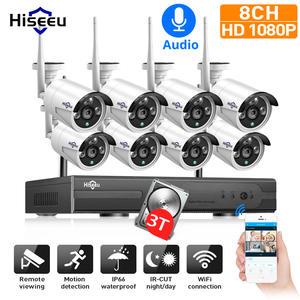 Hiseeu Nvr-Kit Cctv-System Surveillance-Set Ip-Wifi-Camera Outdoor H.265 Wireless HD