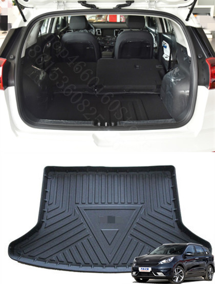 Puou Non-Slip Waterproof For <font><b>KIA</b></font> Niro 2017-19 Mat Rear Trunk Liner Cargo Floor Tray Carpet Guard Protector Car Accessorie image