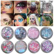20 Warna Payet Glitter Gel Flash Kuku Sticker Anak Mata Stiker Makeup Air Mata Stiker Ponsel Kacamata Cinta Bintang Stiker(China)