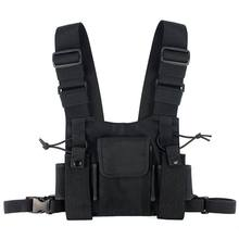 Radios Pocket Radio Chest Harness Chest Front Pack Pouch Holster Vest Rig Carry Case for 2 Way Radio Walkie Talkie for Baofeng U(China)