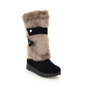 Image 4 - Gykaeo sıcak satış kadın sıcak kar botları 2020 sonbahar ve kış anne eğlence düz alt artı boyutu pamuklu ayakkabılar kadın Botas mujer