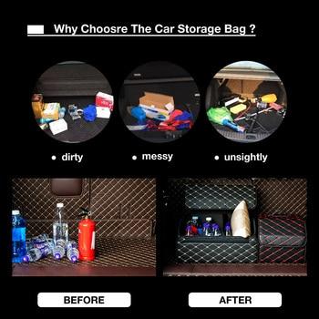 Multipurpose Collapsible Car Trunk Storage Organizer With Lid Portable Car Storage Bag Car Trunk Organizer
