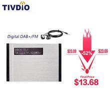 TIVDIO T-101 DAB FM стерео радио Карманный приемник мини портативные часы цифровые DAB+ RDS радио приемник музыкальный плеер наушники F9204