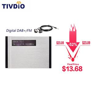 Image 1 - TIVDIO T 101 DAB FM Stereo Radio Pocket Receiver Mini Portable Clock Digital DAB+ RDS Radio Receiver Music Player Earphone F9204
