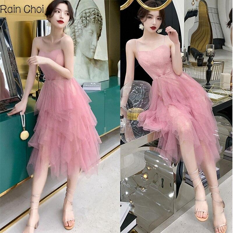 Evening Dress 2021 Tea Length Formal Prom Gown Sexy Evening Dresses