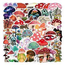 10/50 шт в наборе, Цвет гриб стикеры Детский подарок DIY скейтборд чемодан холодильник записная книжка в стиле «граффити» Водонепроницаемый пе...