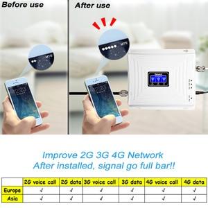 Image 2 - Lintratek אות סלולארי 900 1800 2100 GSM Tri Band מגבר אות ניידת מהדר DCS WCDMA 2G 3G 4G LTE אנטנה #40