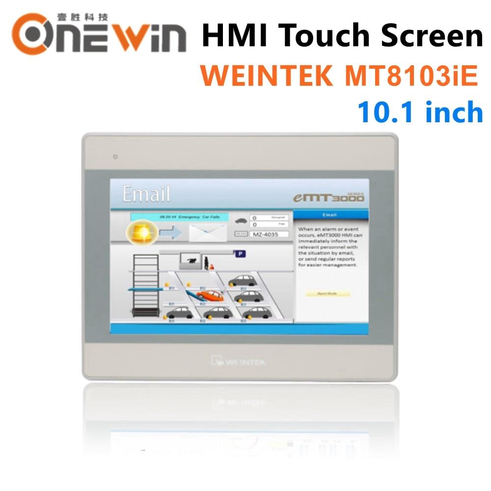 Weinview/weintek mt8103ie hmi tela de toque 10.1 polegada com wifi tela de toque interface da máquina do painel de exibição construir em fácil acesso 2.0