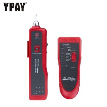 цена на YPAY network cable tester red rj11 rj12 rj45 cat5 cat6 cat7 telephone wire tracker toner ethernet lan rg rj 45 tool line finder