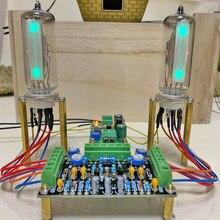 Indicador de tubo de bajo voltaje 6E2 de doble canal DC12V, placa controladora, amplificador de nivel, Audio fluorescente DIY