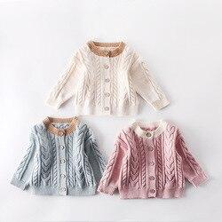 Meninos blusas de malha meninas inverno tops malhas modis crianças sweater cardigan para o bebê da criança do bebê roupas de menina roupa infantil