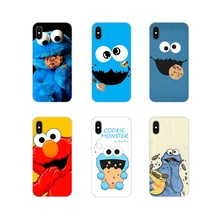 Para bq aquaris s 5059 5035 6040l c v plus x x2 pro u u2 lite m 2017 e 4.5 e5 x5 acessórios do telefone capa de pele elmo cookie monstro