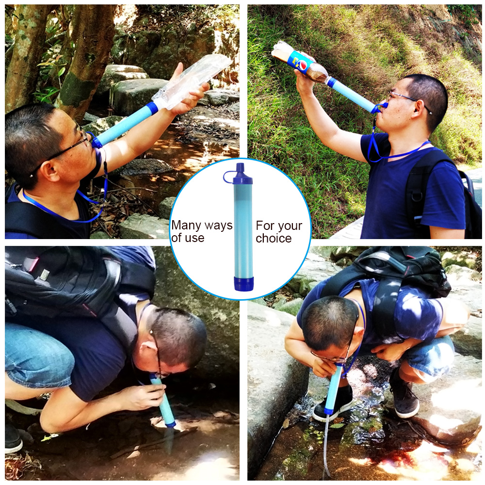 Outdoor Water Purifier Camping Hiking Emergency Life Survival Portable PurifierTravel Wild drink Ultrafiltration  Water Filter 3