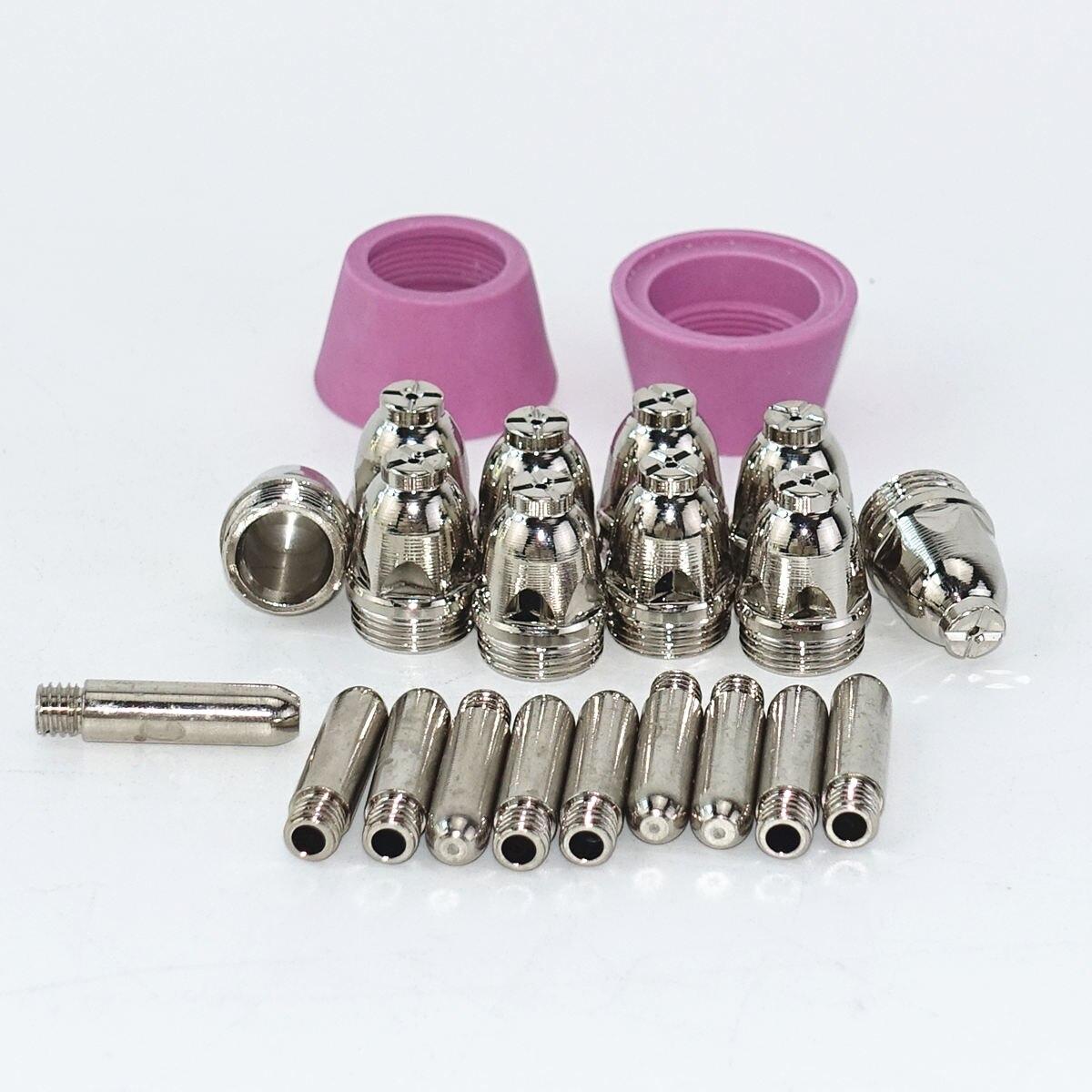 26Pcs SG55 AG60 Plasma Cutter Consumables Torch Electrode Tip Nozzle Electrode