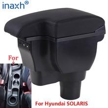 Para hyundai solaris caixa de apoio braço 2017 2018 2019 2020 para hyundai solaris 2 accent verna carro caixa armazenamento braço acessórios do carro