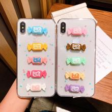 Cartoon Milk Candies Phone Case for iPhone 6 6S 7 8 Plus Cute Soft TPU Cases  for iPhone XS MAX XR X Clear Silicone Cover Case цена