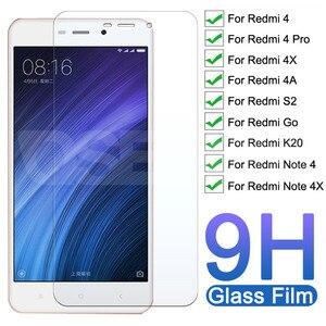 Vidro temperado premium 9h, para xiaomi redmi note 4 4x pro, protetor de tela redmi 4 pro 4x 4a s2 vidro protetor de filme go k20