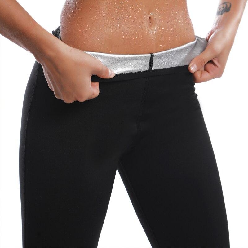 Pantaloni termici con rivestimento in ioni d'argento da donna abiti da Sauna per il sudore Body Shapers allenatore da donna pantaloncini dimagranti Leggings Fitness per ragazze 1