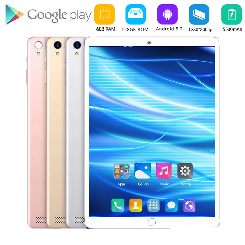 2020  Sales Hot 10 Inch Tablet Pc Android 8.0 1280*800 IPS 4G LTE Octa Core 6GB RAM 128GB ROM 8MP WiFi GPS Tablets 10.1