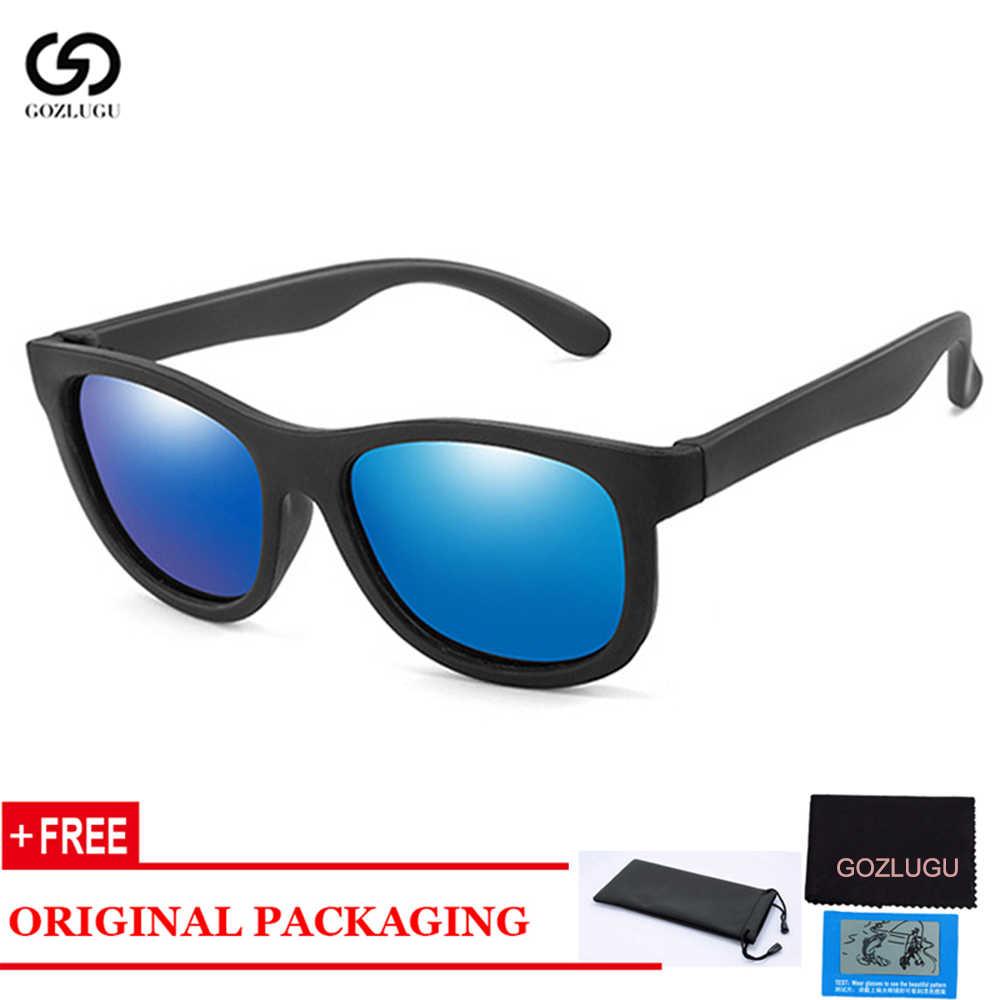 GOZLUGU מקוטב סיליקון גמיש בטיחות ילדי שמש משקפיים בני בנות תינוק גווני משקפיים UV400 Eyewear 3
