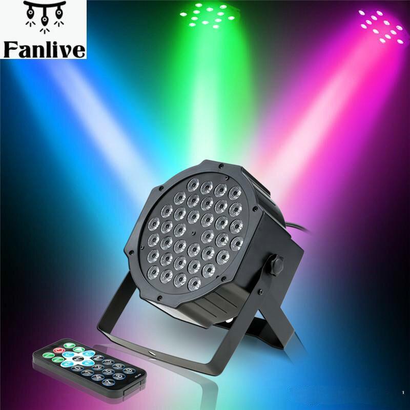 4 stücke Laser lichter Sound Aktivierung Bühne Licht 36LED Fernbedienung PAR Licht RGB Waschen Wirkung Bühne Lampe Party DJ bar Club
