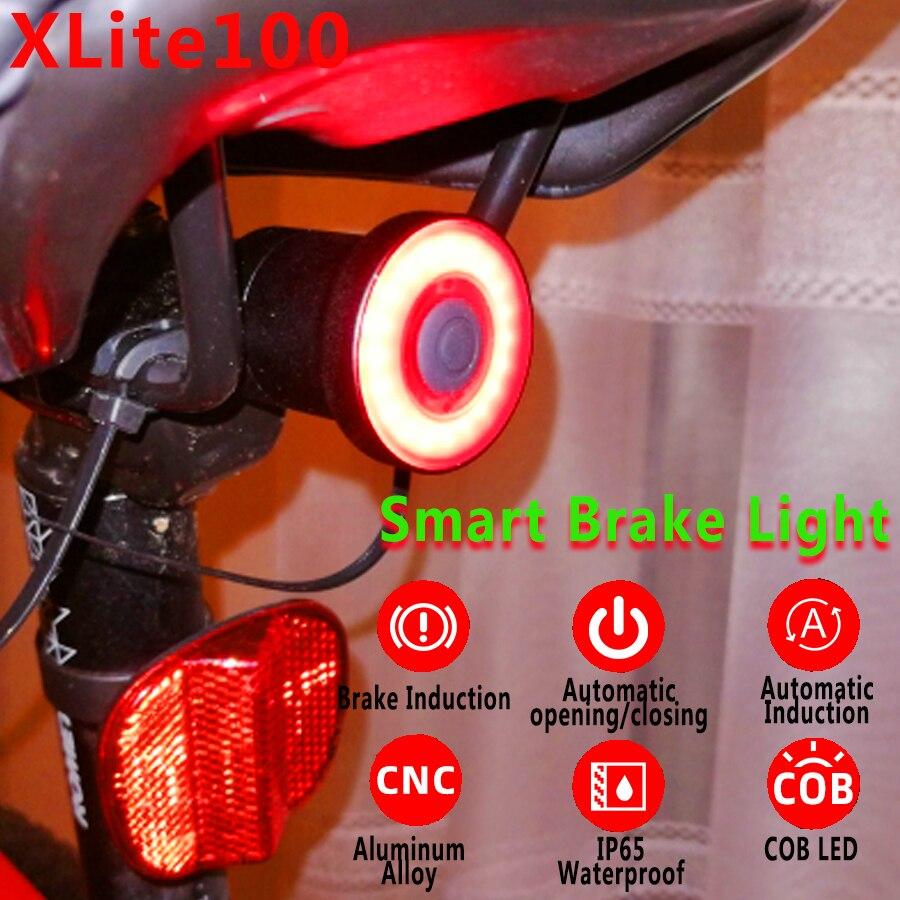 XLite100 LED USB Intelligent Fahrrad Bike Rücklicht Blinker Fahrradlicht Bike XS