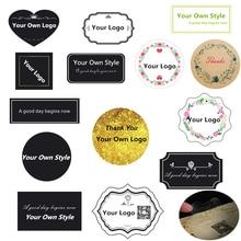 LBSISI Life pegatinas personalizadas, logotipo impreso, transparente personalizado, papel Kraft, etiquetas de plástico decoración de Navidad para hornear para bolsas