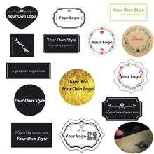 Lbsisi Leven Custom Stickers,Print Logo, Gepersonaliseerde Transparant, Kraftpapier, plastic Labels Bakken Kerst Decoratie Voor Tassen