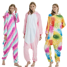 Adult Kigurumi Unicorn Pajamas Set Men Women Animal Pijamas Winter flannel pajama Cosplay Custome Onesies Pyjama animal print pajama set